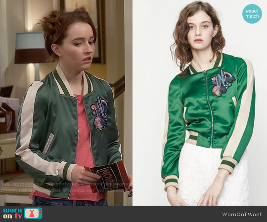 Maje Bacary Jacket worn by Kaitlyn Dever on Last Man Standing