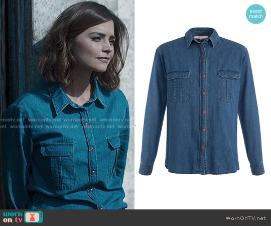 Maje Chianti Shirt worn by Jenna Coleman on Doctor Who