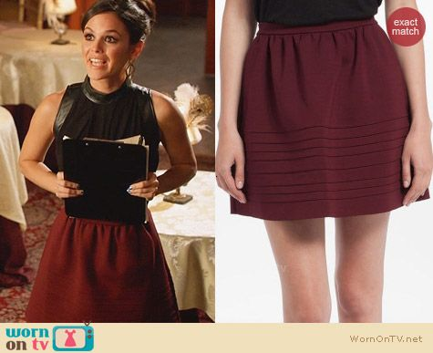 Maje Dressage Piped Full Skirt worn by Rachel Bilson on Hart of Dixie