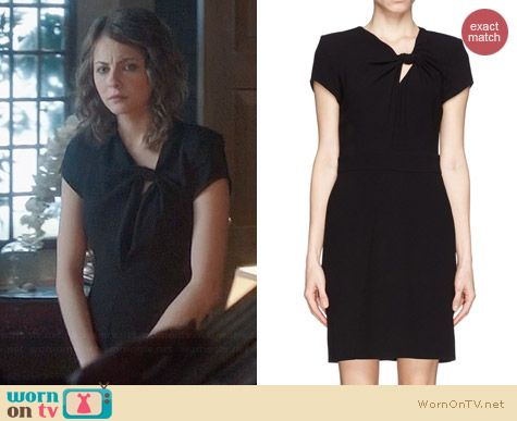Maje Fashion Bow Knot Dress worn by Willa Holland on Arrow