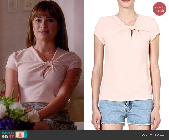 Maje Flic Knotted Top worn by Lea Michele on Glee