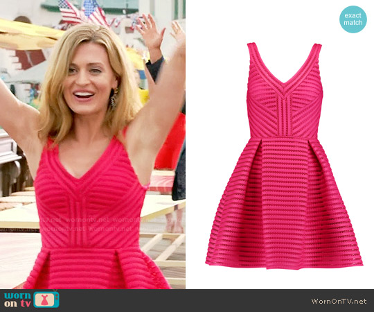 Maje Rayure Dress worn by Brooke D'Orsay on Royal Pains