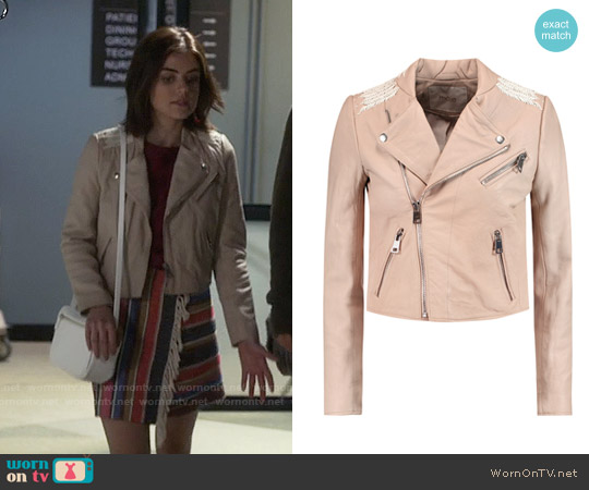 Maje Vicky Jacket worn by Aria Montgomery on PLL