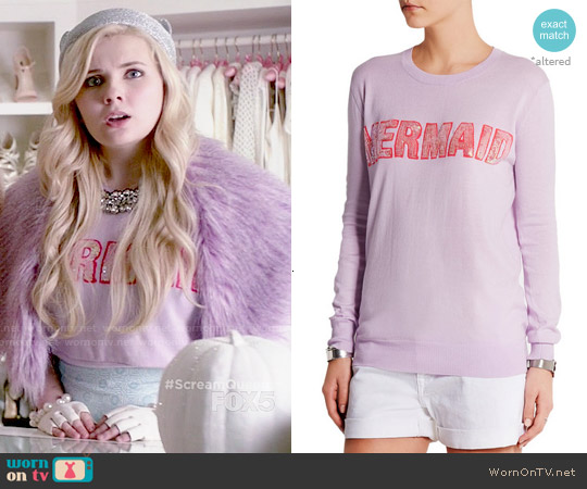 Markus Lupfer Mermaid Sequin Sweater worn by Abigail Breslin on Scream Queens