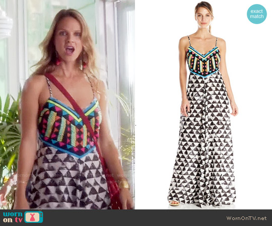 Mara Hoffman Embellished Maxi Dress worn by Beau Garrett on GG2D