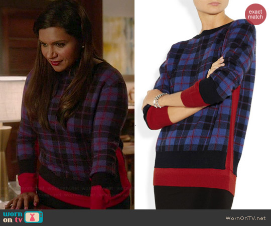 Marc by Marc Jacobs Aimee Sweater worn by Mindy Kaling on The Mindy Project