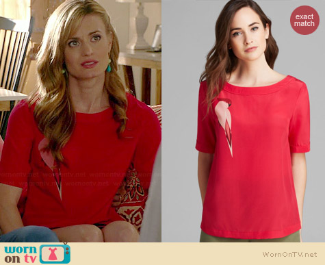 Marc by Marc Jacobs Capella Silk Tee worn by Brooke D'Orsay on Royal Pains