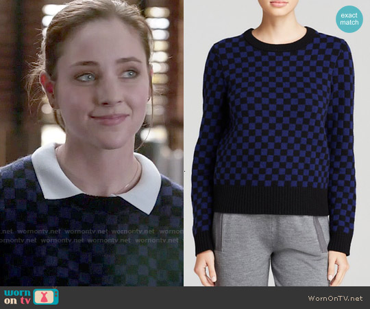 Marc by Marc Jacobs Checkerboard Wool Sweater worn by Haley Ramm on Chasing Life