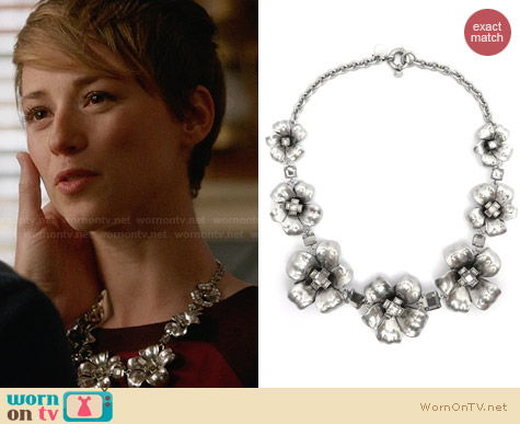 Marc by Marc Jacobs Flower Garland Necklace worn by Karine Vanasse on Revenge