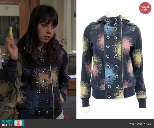 Marc by Marc Jacobs Spray Paint Sweatshirt worn by Aubrey Plaza on Parks & Rec