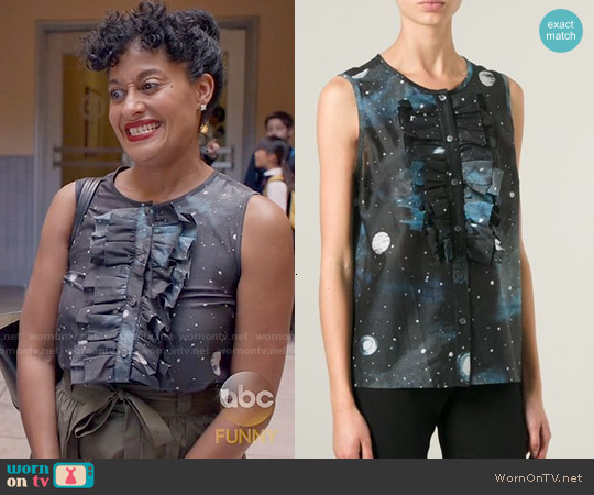 Marc by Marc Jacobs Stargazer Ruffled Top worn by Tracee Ellis Ross on Blackish