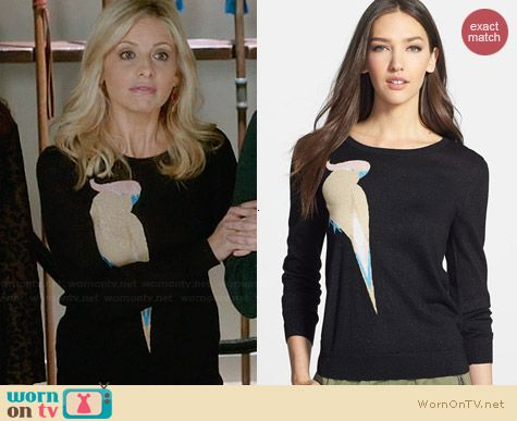 Marc by Marc Jacobs Betty Birdie Sweater worn by Sarah Michelle Gellar on The Crazy ones