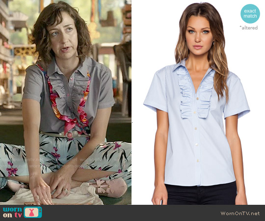 Marc by Marc Jacobs Rufled Shirt worn by Kristen Schaal on Last Man On Earth