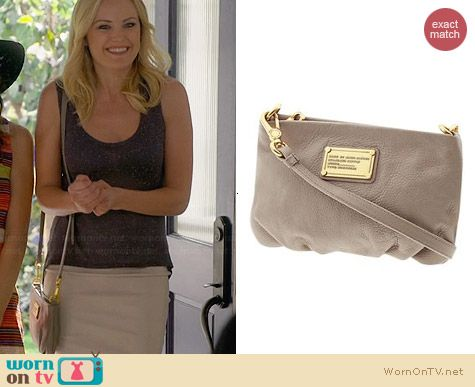 Marc by Marc Jacobs Classic Q Percy Bag in Cement worn by Malin Akerman on Trophy Wife