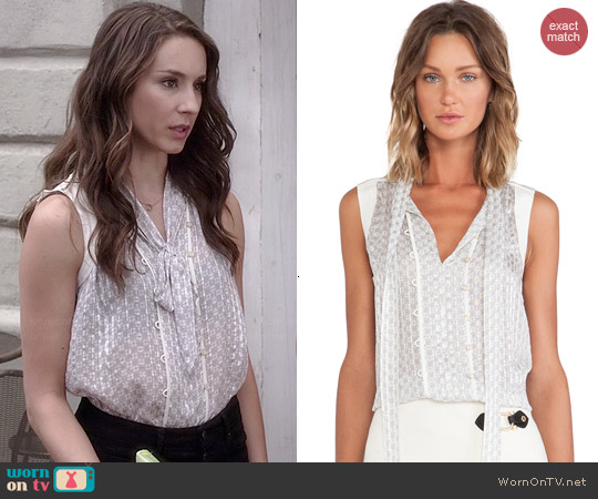 Marc by Marc Jacobs Damara Blouse worn by Troian Bellisario on PLL