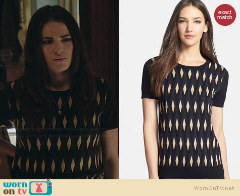 Marc by Marc Jacobs Diamond Flame Sweater worn by Karla Souza on HTGAWM