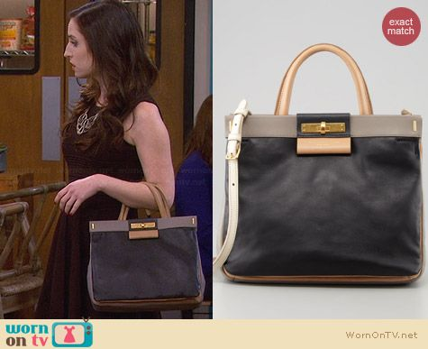 Marc by Marc Jacobs East End Madame Hilli Colorblock Bag worn by Zoe Lister Jones on FWBL