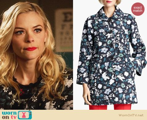 Marc Jacobs Flower & Butterfly Print Coat worn by Jaime King on Hart Of Dixie