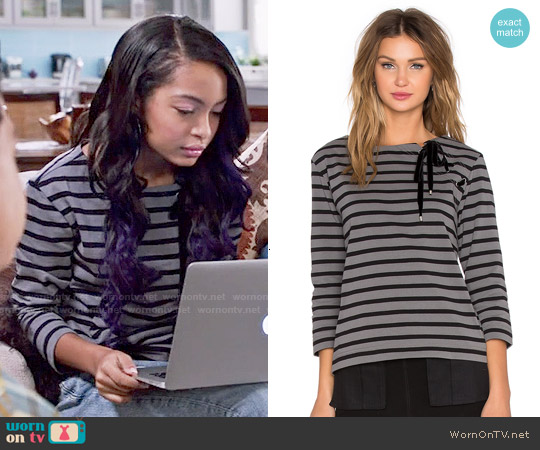 Marc by Marc Jacobs 'Jacquelyn' Stripe Top worn by Yara Shahidi on Blackish