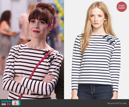 Marc by Marc Jacobs Jacquelyn Top worn by Cristin Milioti on A to Z