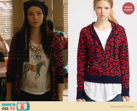 Marc by Marc Jacobs Lita Cheetah Hoodie worn by Malese Jow on Star-Crossed