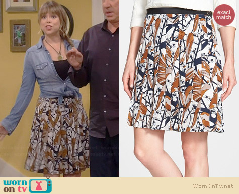 Marc by Marc Jacobs Nightingale Skirt worn by Amanda Fuller on Last Man Standing