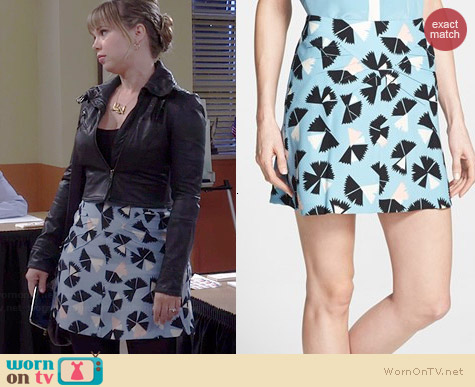 Marc by Marc Jacobs Pinwheel Flower Skirt worn by Amanda Fuller on Last Man Standing