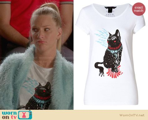 Marc by Marc Jacobs Rue Cat Tee worn by Heather Morris on Glee