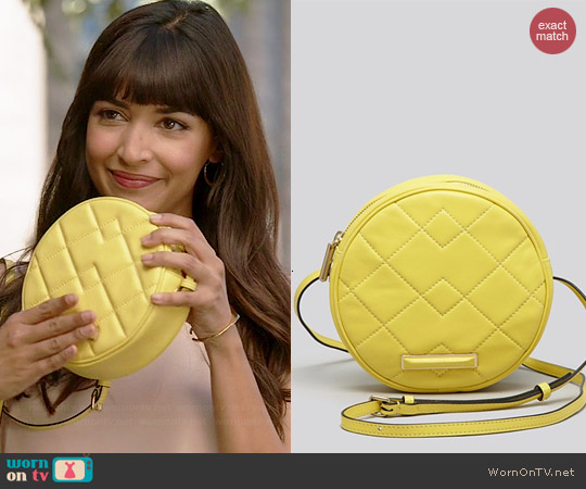 Marc by Marc Jacobs Shape Up Quilted Bag in Banana Creme worn by Hannah Simone on New Girl