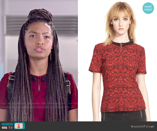 Marc by Marc Jacobs Strawberry Thief Top worn by Yara Shahidi on Blackish