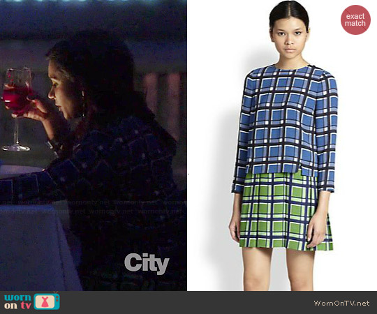 Marc by Marc Jacobs Toto Plaid Dress worn by Mindy Kaling on The Mindy Project