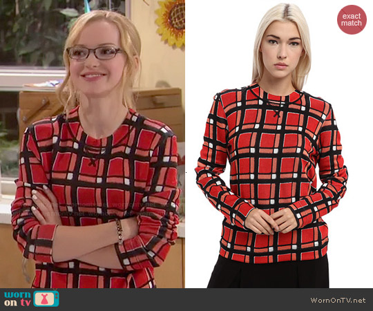 Marc by Marc Jacobs Toto Printed Sweater worn by Dove Cameron on Liv & Maddie