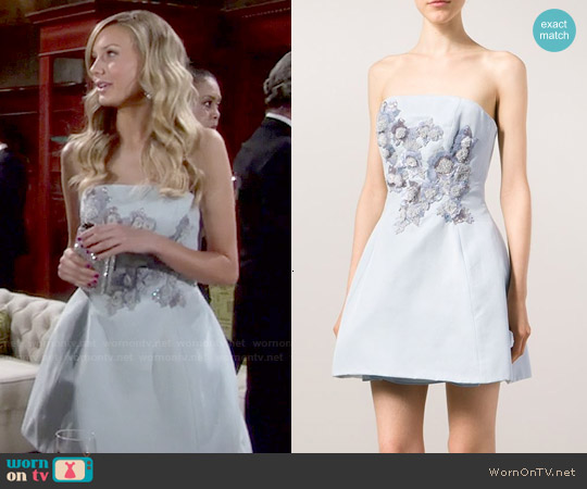 Marchesa Notte Sequin Embellished Bandeau Dress worn by Melissa Ordway on The Young & the Restless