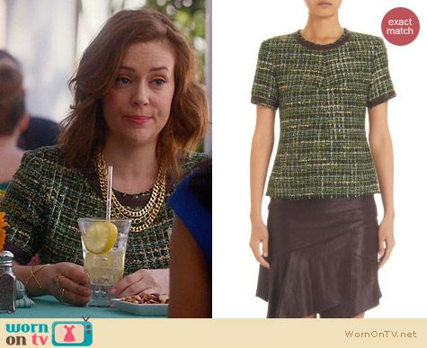 Marissa Webb Britt Tee worn by Alyssa Milano on Mistresses