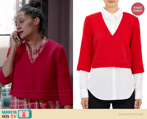 Marissa Webb Kenley Crop Top worn by Tracee Ellis Ross on Black-ish