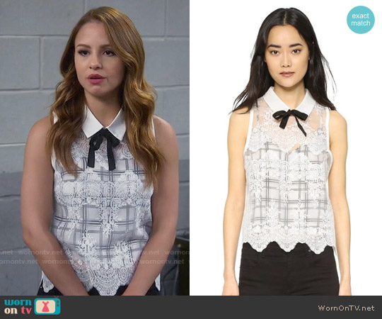 Marissa Webb Owen Blouse worn by Aimee Carrero on Young & Hungry