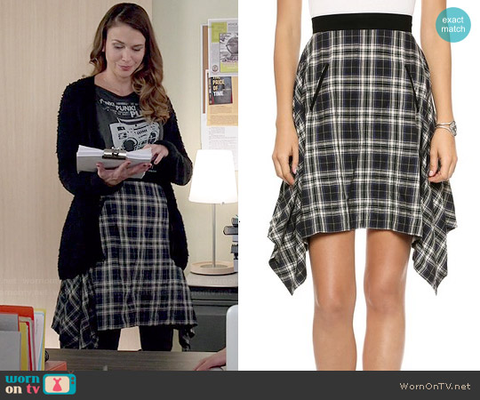 Marissa Webb Paige Gerrit Plaid Skirt worn by Liza Miller on Younger