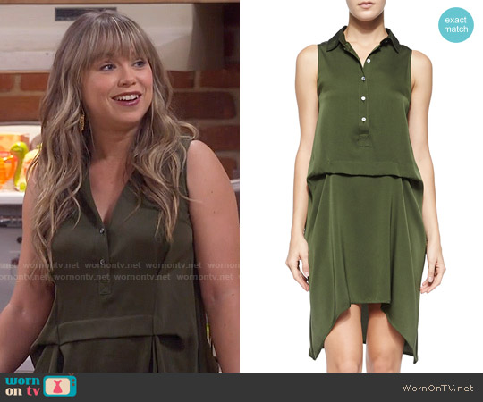Marissa Webb Sleeveless Drawstring Back Dress worn by Amanda Fuller on Last Man Standing