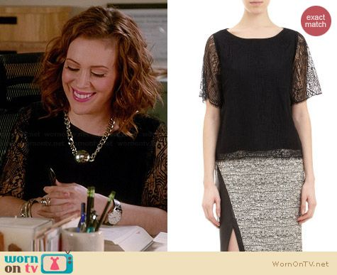 Marissa Webb Sonia Top worn by Alyssa Milano on Mistresses