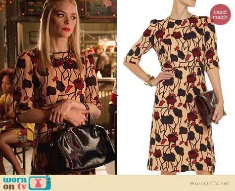 Marni Floral-print crepe-jersey dress worn by Lemon Breeland on Hart of Dixie