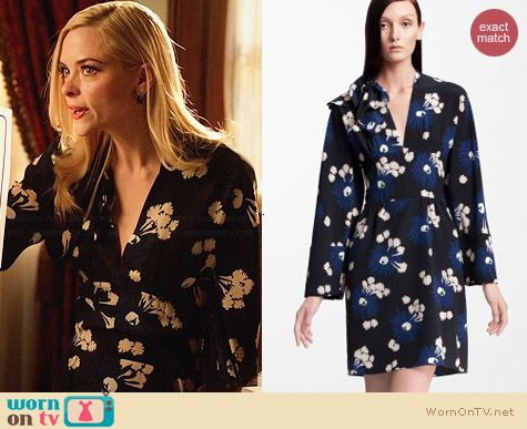 Marni Floral Silk Dress worn by Jaime King on Hart of Dixie