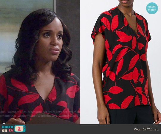 Marni Leaf Print Top worn by Kerry Washington on Scandal