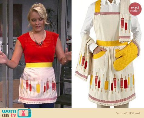 Martha Stweart Collection Rolling Pin Apron worn by Emily Osment on Young & Hungry
