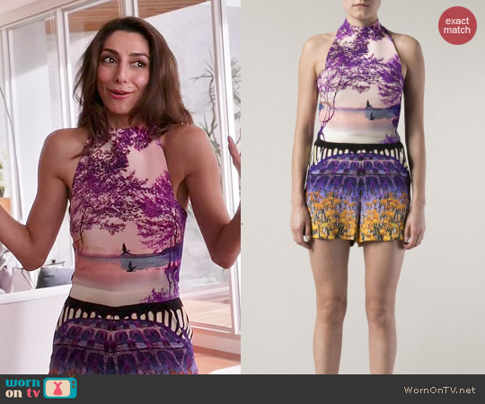 Mary Katrantzou Garden Print Romper worn by Necar Zadegan on GG2D