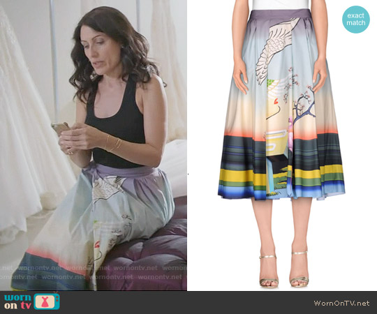 Mary Katrantzou 'Bowles' Skirt worn by Lisa Edelstein on GG2D