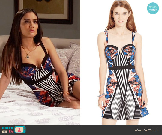 Material Girl Fit-And-Flare Printed Dress worn by Sol Rodríguez on Devious Maids