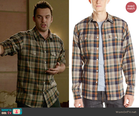 Matix Brooklyn Shirt in Grey worn by Jake Johnson on New Girl