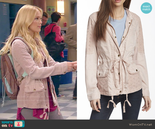 Max Jeans Lace Trim Field Jacket worn by Olivia Holt on IDDI