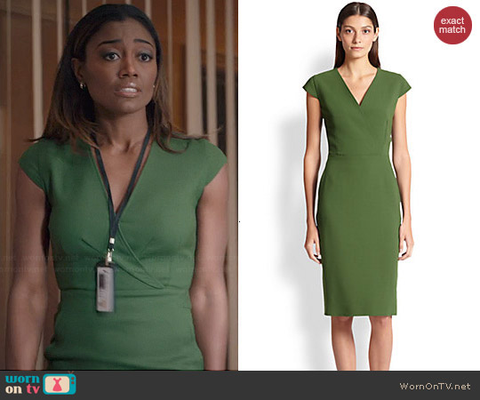 Max Mara Capale Surplice Dress worn by Patina Miller on Madam Secretary