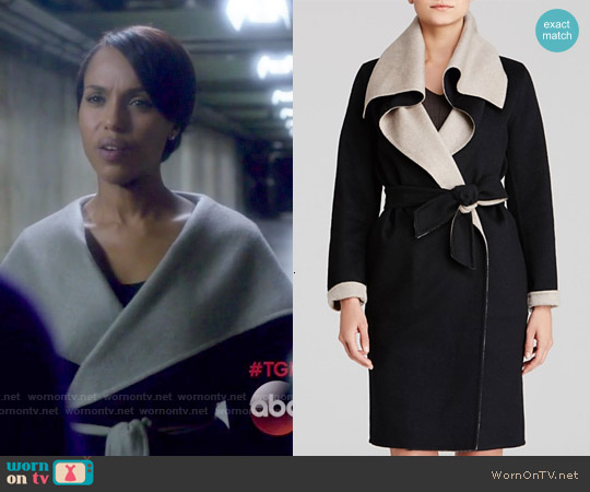 Max Mara Emy Reversible Coat worn by Kerry Washington on Scandal